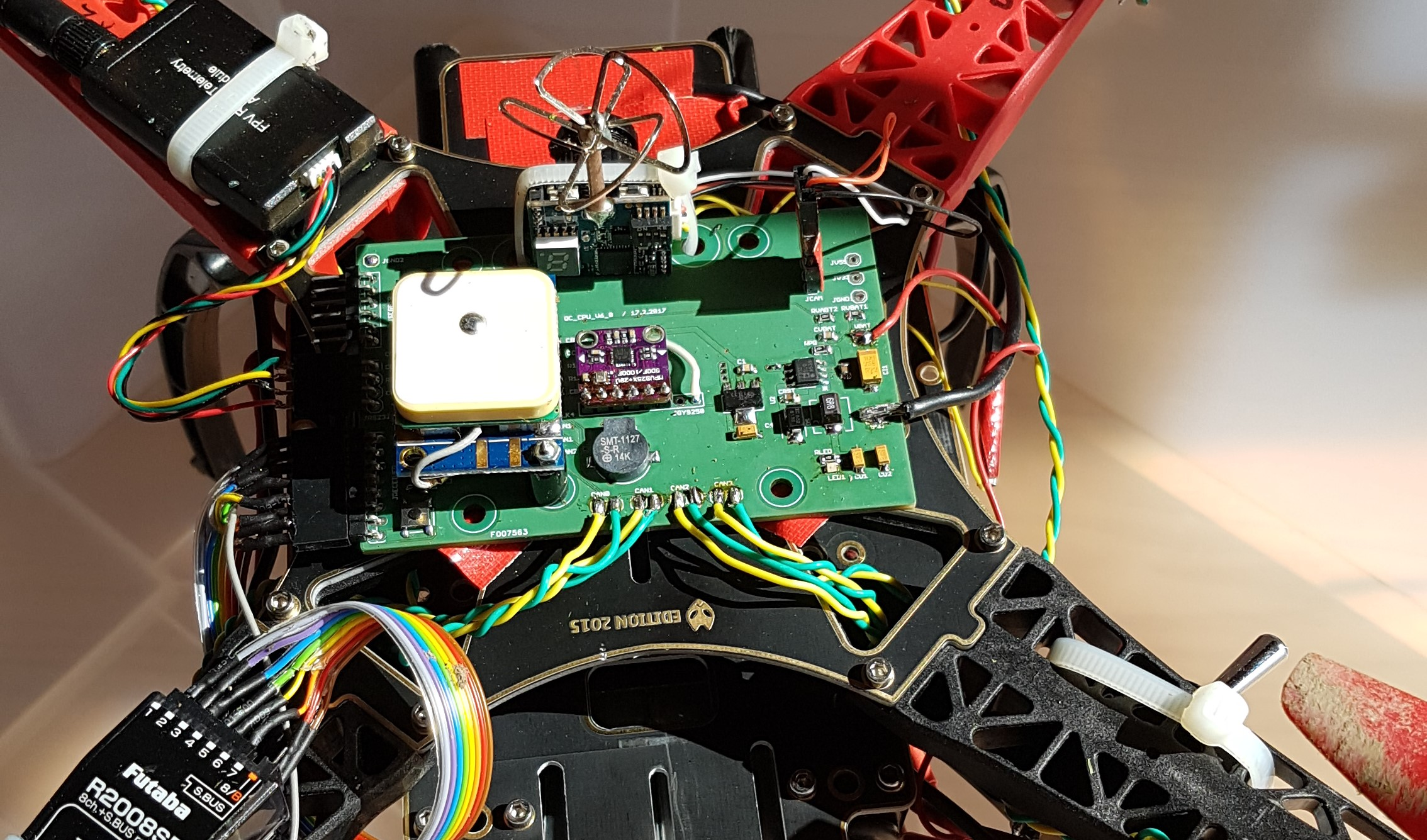STM32F4 powered flight controller with MPU9250 motion sensor and Madgwick's sensor fusion